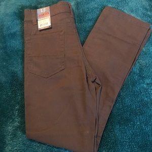 Boys Gray Iron Co Pants